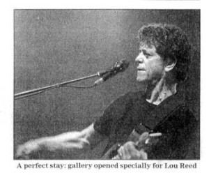Lou Reed at his exhibition at the Robert Sandelson Gallery in London